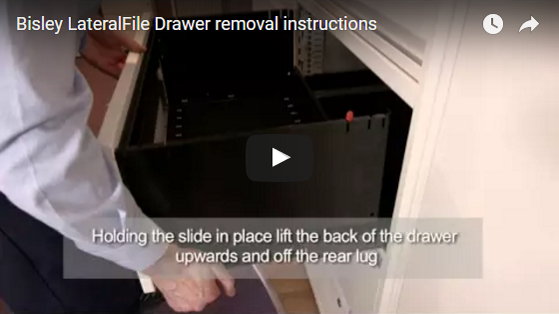 Bisley LateralFile Drawer removal instruction